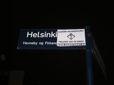 Nordic Resistance Movement posters in support of the Finnish branch of the organisation in Copenhagen