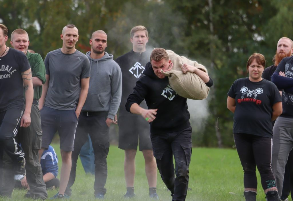 Strength games at the Nordic Resistance Movement's Nordic Days event, 2018