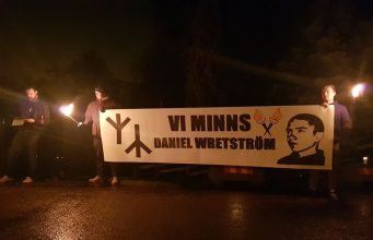 National Socialists honour the memory of Daniel Wretström on the anniversary of his death, 9 Dec 2018.