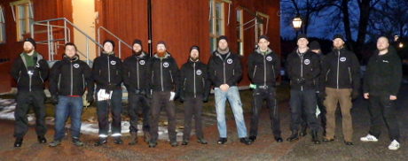 Nordic Resistance Movement security patrol in Kopparberg, Sweden