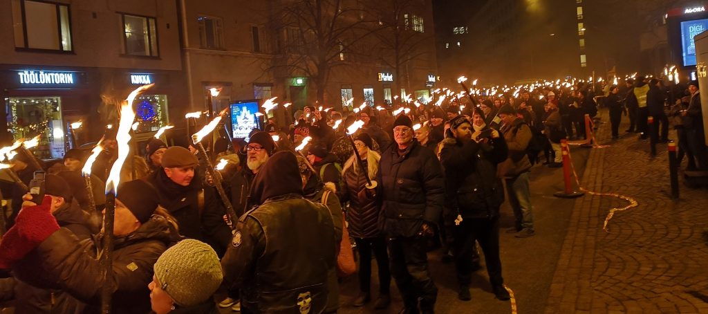 612 Independence March in Helsinki, 2018