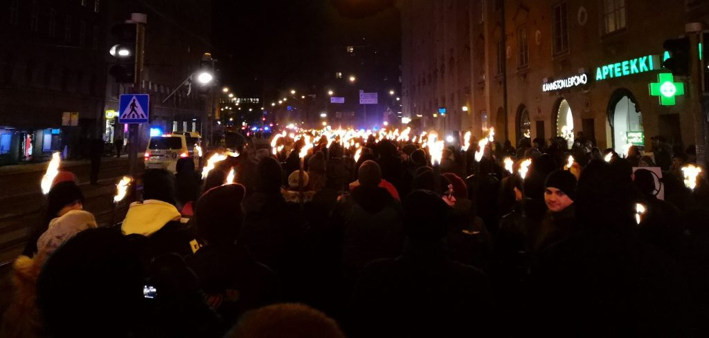 612 Independence torchlight March in Finland, 6/12/18