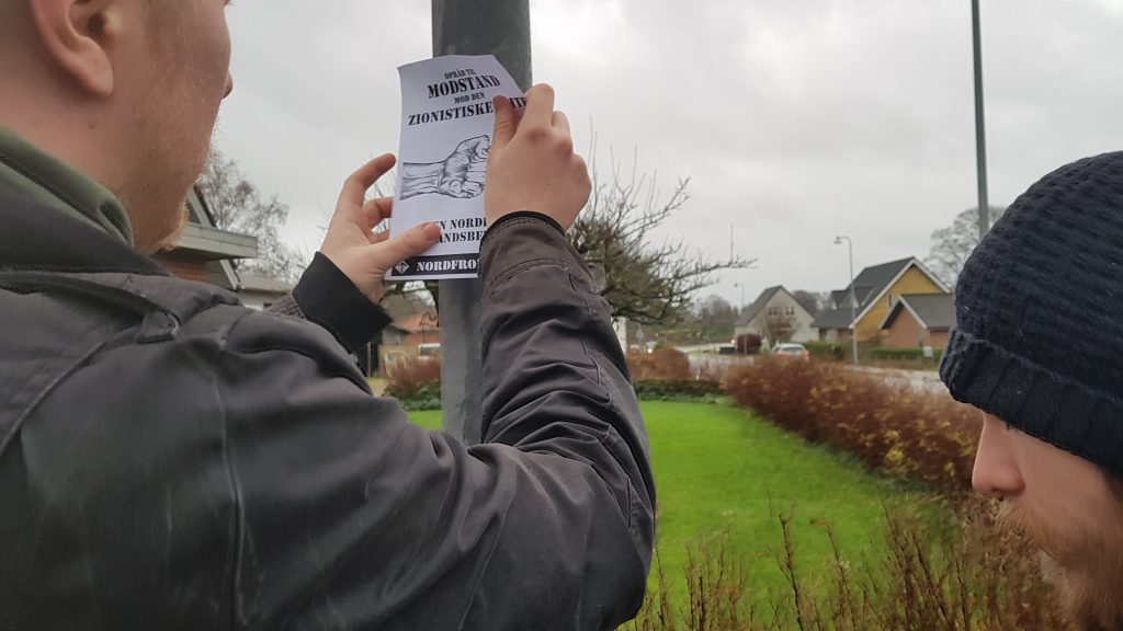 Nordic Resistance Movement activism in Bording, Denmark