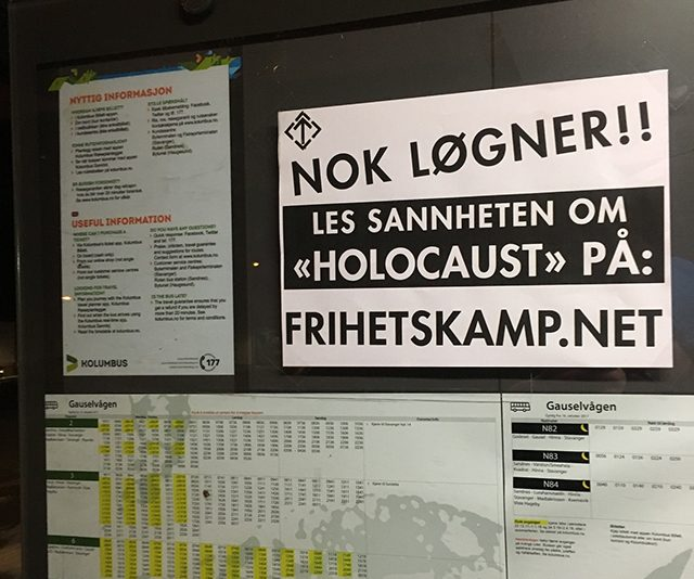 "Nordic Resistance Movement activity on ""Holocaust"" Day in Norway, 2019"