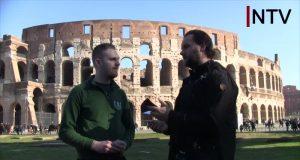 NTV interview with Der Dritte Weg's Julian Bender in Rome