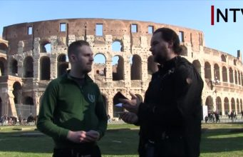 NTV interview with Der Dritte Weg's Julian Bender in Rome