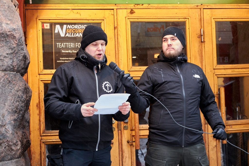 Movement's activist giving a speech