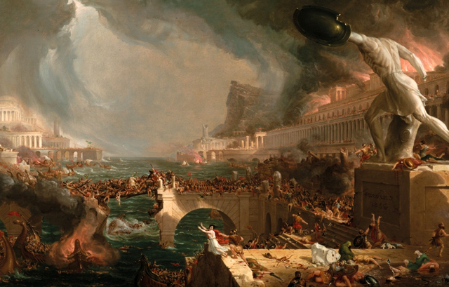 The Course of Empire - Destruction painting, by Thomas Cole