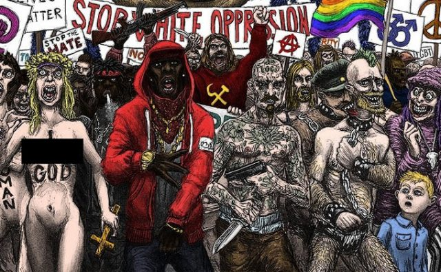 Cultural Marxism cartoon