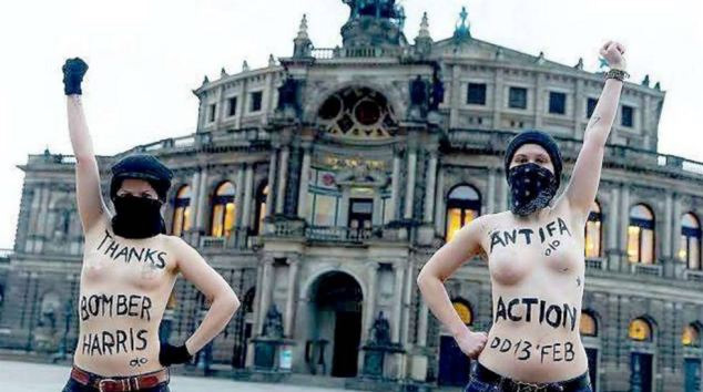 Topless Femen activists