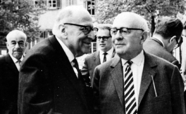 Frankfurt School members: The Jews Max Horkheimer and Theodor Adorno