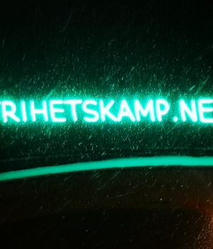 Frihetskamp LED banner
