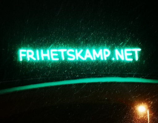 Frihetskamp LED banner