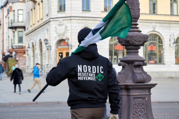Nordic Resistance Movement activists in Uppsala, Sweden