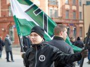 Nordic Resistance Movement activists in Uppsala, Sweden