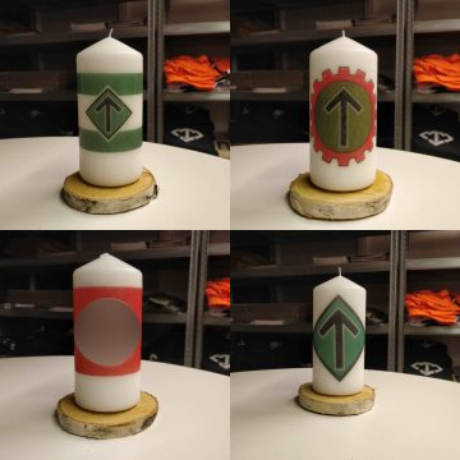 Nordic Resistance Movement candles