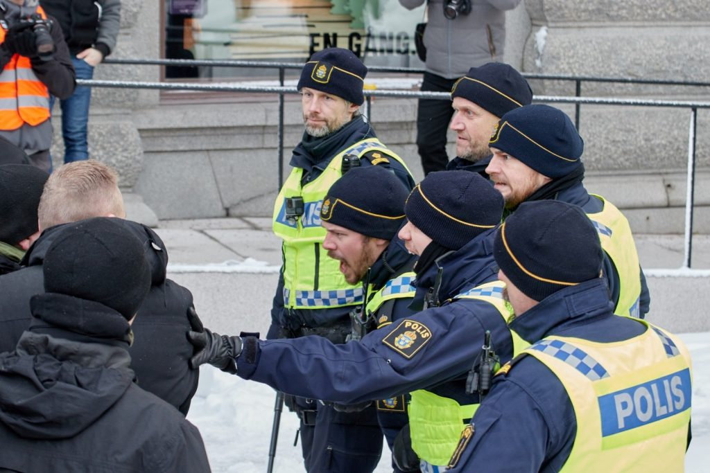 Stockholmers for a Sovereign Sweden rally, Stockholm, 3 February 2019