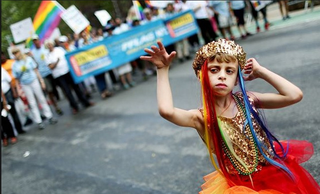 Child at pride parade