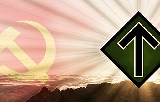 Communist and Nordic Resistance Movement symbols