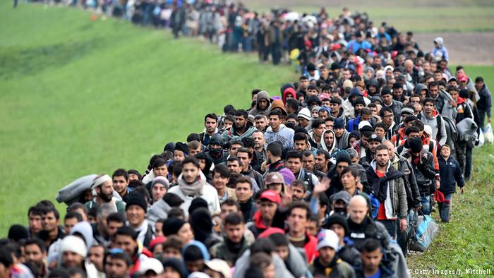Mass immigration invasion line