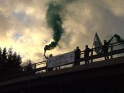 Nordic Resistance Movement banner activity in Stenungsund