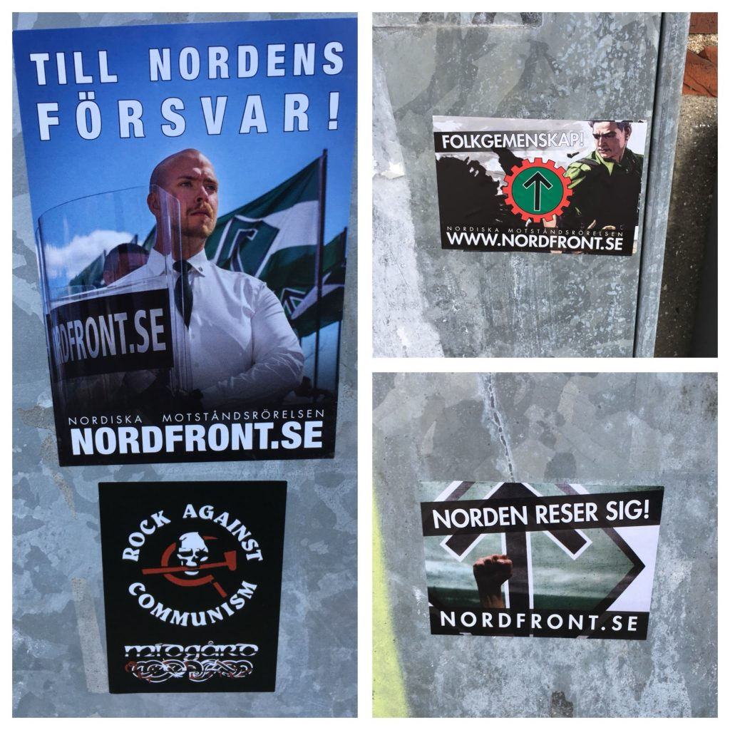 Nordic Resistance Movement stickers in Trelleborg