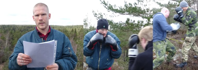 Nordic Resistance Movement hiking and training activities in Uddevalla