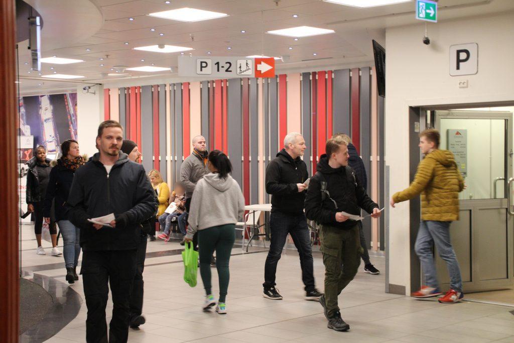 Nordic Resistance Movement leadfleting in Fredrikstad, Norway