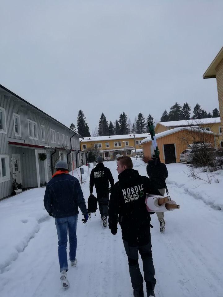 NRM activists in Mariehem, Sweden