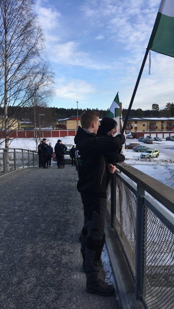 NRM banner activism in Umeå