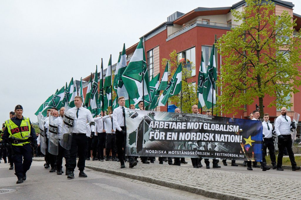 The Nordic Resistance Movement march on 1 May in Kungalv