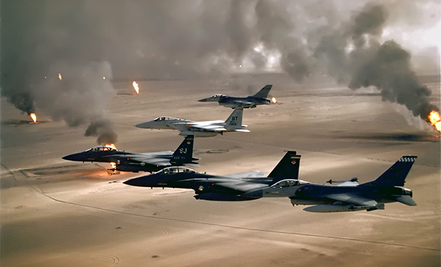 American fighter planes in the Gulf War