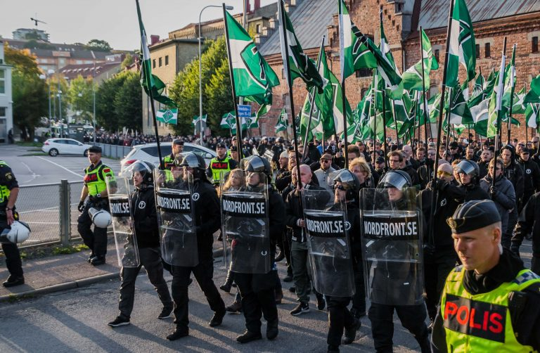 Nordic Resistance Movement march in Gothenburg