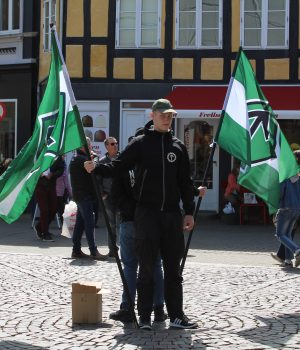 The Nordic Resistance Movement leaflet in Svendborg, Denmark