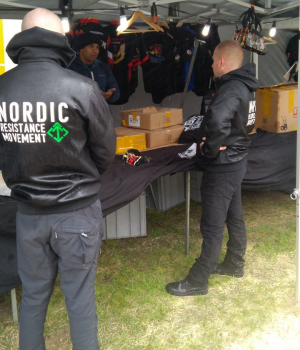 Nordic Resistance Movement activism at Rabbalshede market