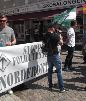 The Nordic Resistance Movement at the Alingsås Potato Festival