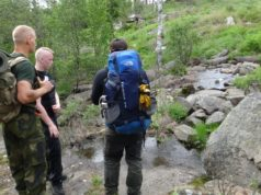 Nordic Resistance Movement Nest 2 activists on a wilderness hike in Bohuslän