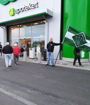Nordic Resistance Movement activism in Eslöv