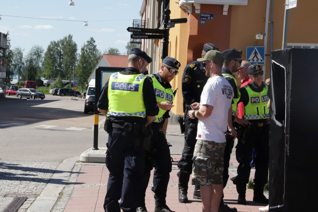 The Nordic Resistance Movement at Ludvika Pride parade 2019