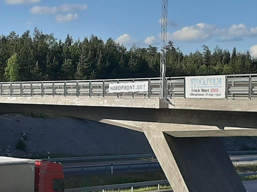 Nordfront banner in Uppland
