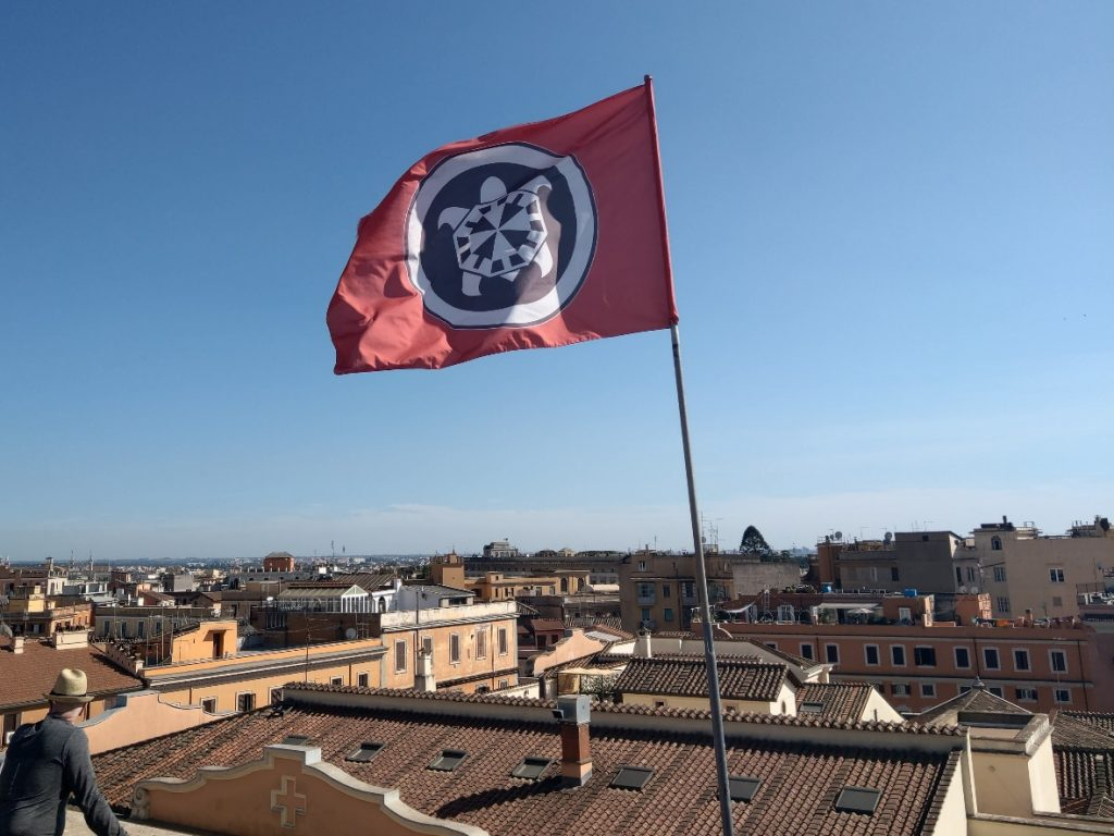 Casa Pound flag in Rome