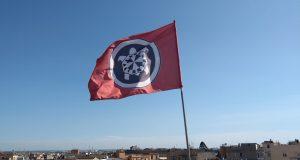 Casa Pound flag in Rome
