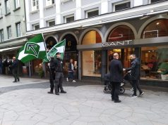 Nordic Resistance Movement activists in Helsingborg