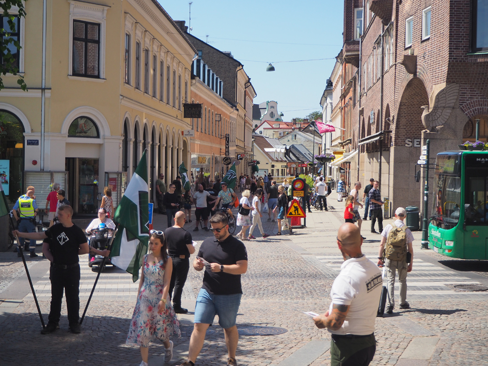 Nordic Resistance Movement activism in Lund, June 2019
