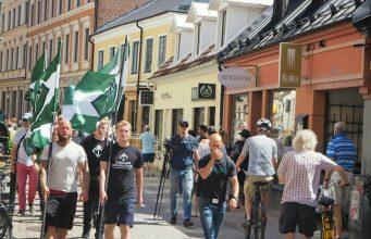 Nordic Resistance Movement activism in Lund, June 2019