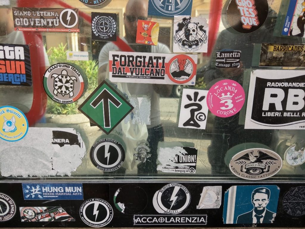 Nationalist stickers in Rome
