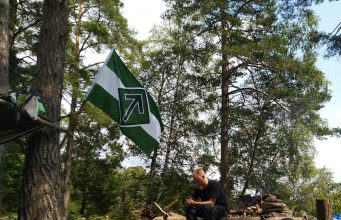 Nordic Resistance Movement Nest 3 activists camping in the wilderness