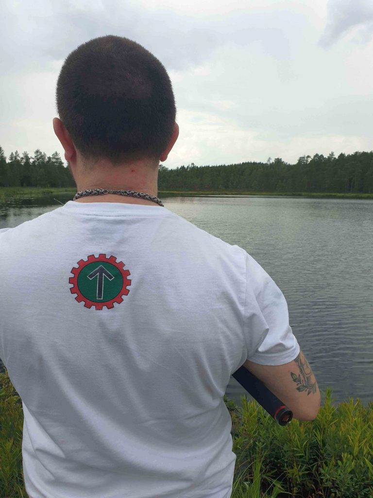 Nest 5 Nordic Resistance Movement activist in the forests of Dalarna