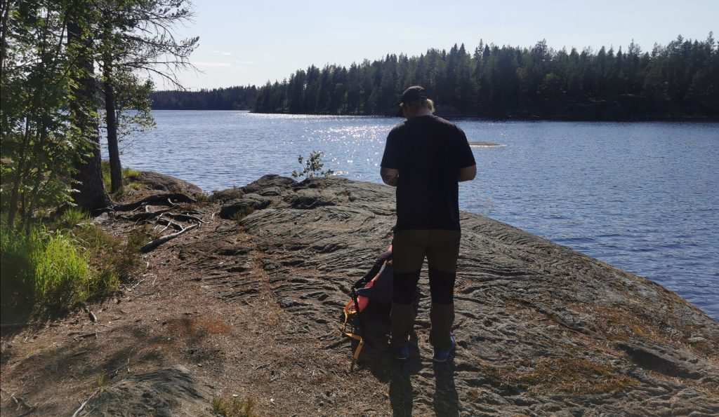 Nordic Resistance Movement Nest 2 hiking in Värmland