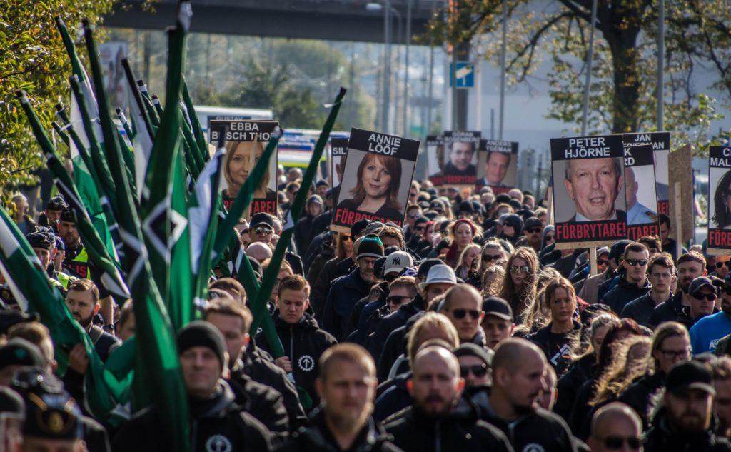 Nordic Resistance Movement demonstration in Gothenburg September 2017